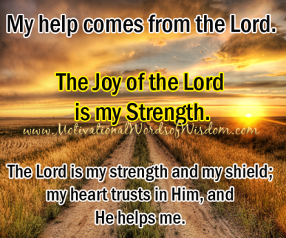 Image result for picture our strength comes from God